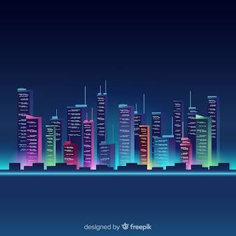 Ville néon fond