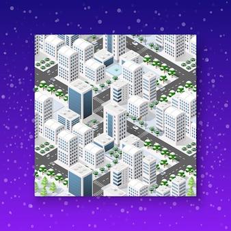 Ville de noël isométrique
