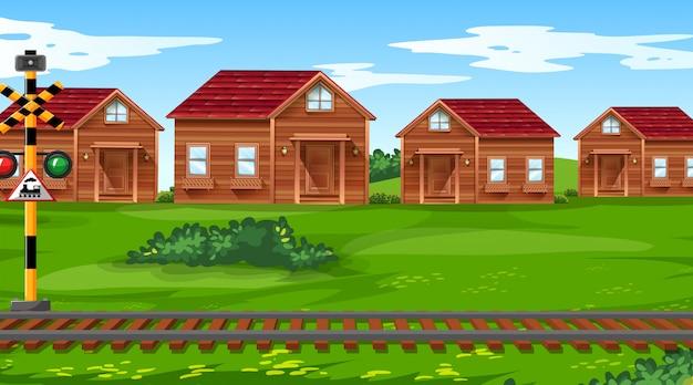 Ville avec scène ferroviaire
