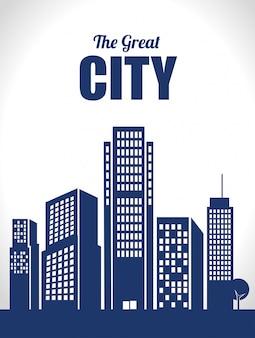 Ville urbaine et design immobilier.