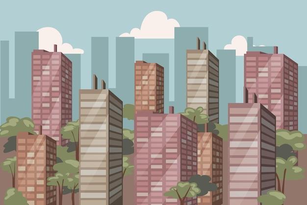 Ville urbaine - fond pour la vidéoconférence