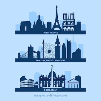 Villes horizon urbain, europe