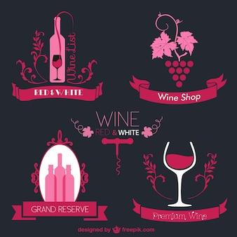 Vin abstraits logos gratuits