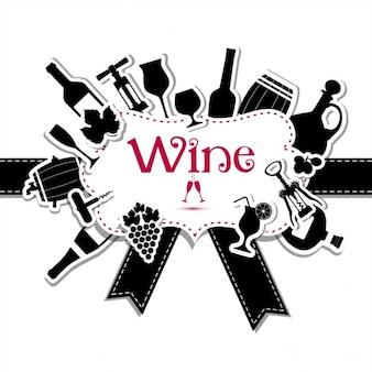 Vin carte de menu set à vin pour la conception de la vôtre
