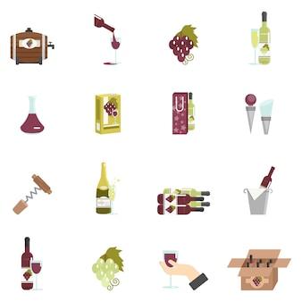 Vin icône plat