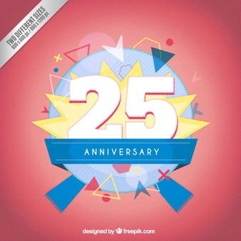 Vingt-cinquième anniversaire badges moderne