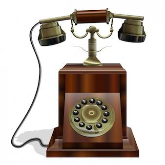 Vintage 3d de téléphone