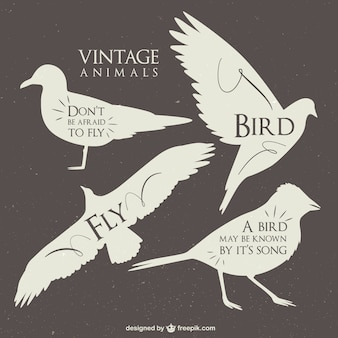 Vintage animals silhouettes