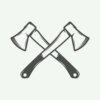Vintage axes croisés