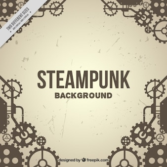 Vintage background engrenage dans le style steampunk