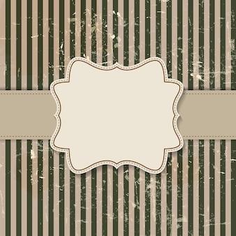 Vintage background avec frame vector illustration eps10