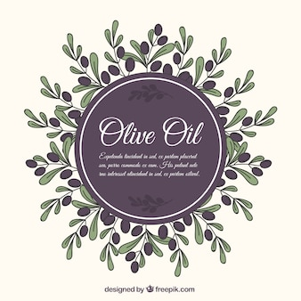 Vintage background de l'huile d'olive
