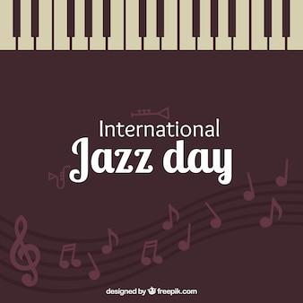 Vintage background journée de jazz avec des touches de piano