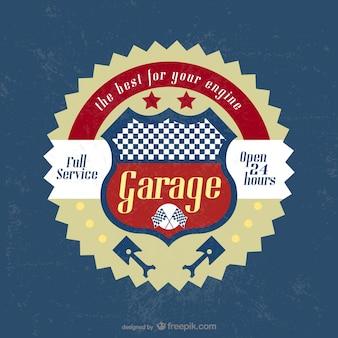 Vintage badge garage