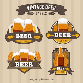 Vintage bière autocollants