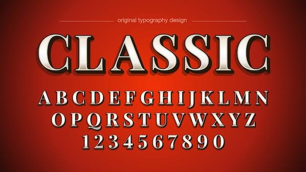 Vintage bold serif typography design