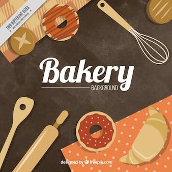 Vintage boulangerie fond
