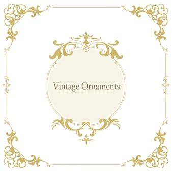 Vintage cadre vecteur ornement s'épanouir