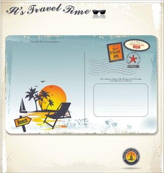 Vintage carte postale d'été