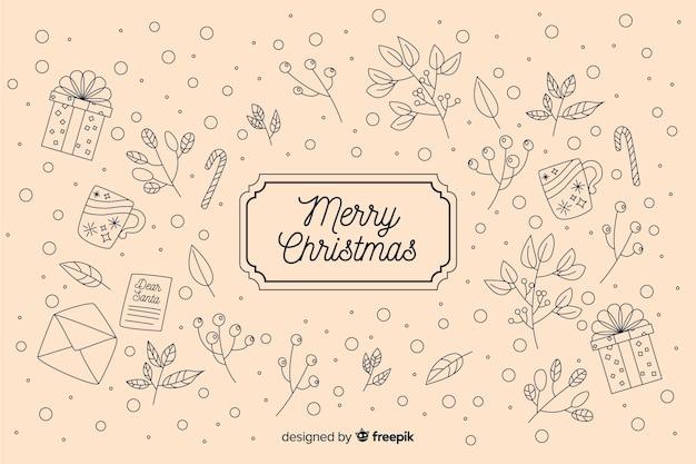 Vintage christmas background