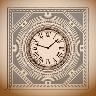 Vintage clock fond