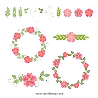 Vintage collection de couronnes florales
