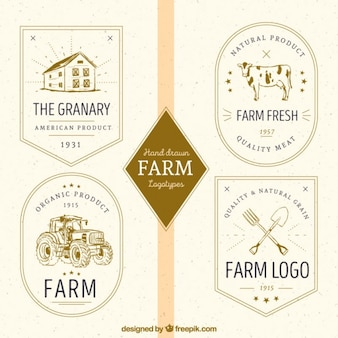 Vintage collection logos agricoles