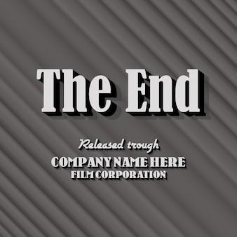 Vintage end credits contexte