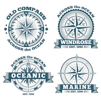 Vintage étiquettes nautiques