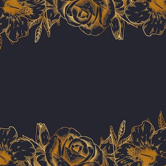 Vintage floral fond