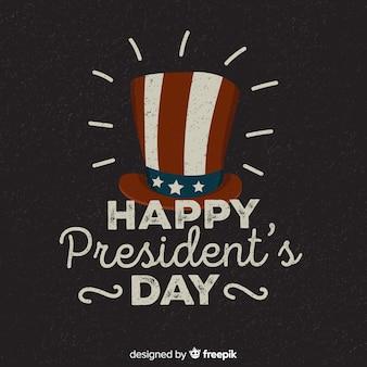 Vintage fond du jour du président