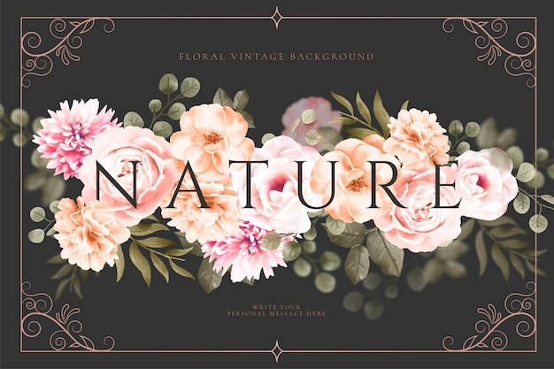 Vintage fond floral