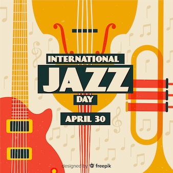 Vintage fond international de la journée de jazz