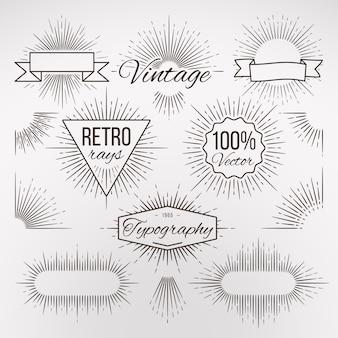 Vintage forme de décoration en éclat pour la typographie
