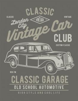 Vintage illustration de voiture de londres