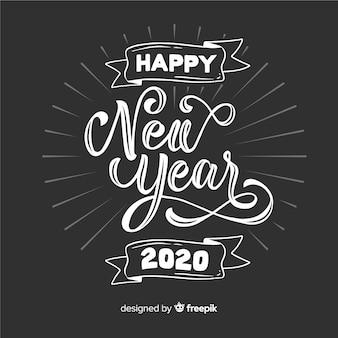 Vintage lettrage bonne année 2020
