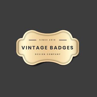 Vintage logo doré