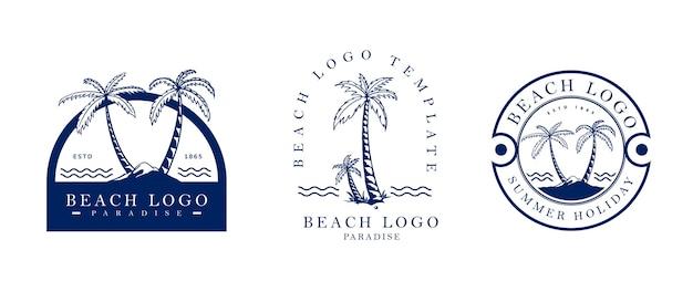 Vintage logo plage