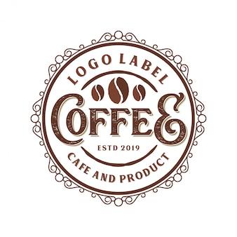 Vintage logo pour café ou magasin de café