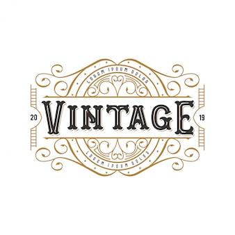 Vintage logo pour la nourriture ou un restaurant