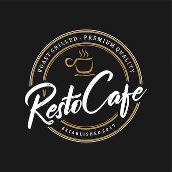 Vintage logo pour la restauration et les boissons au restaurant