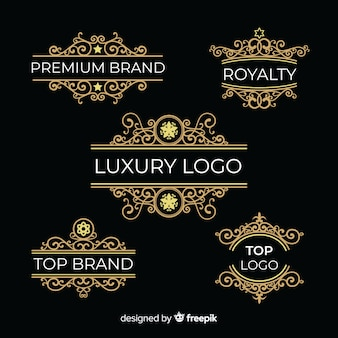 Vintage logos ornementaux