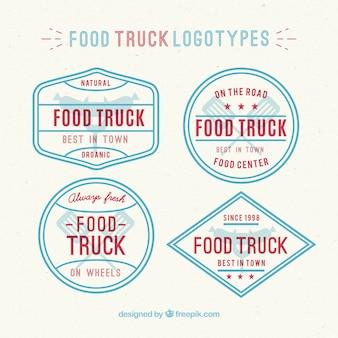 Vintage logotypes de camion alimentaire