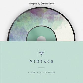 Vintage maquette de vinyle