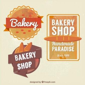 Vintage mignon badges de magasin de boulangerie
