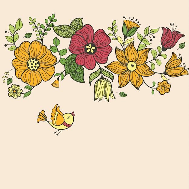 Vintage motif floral sans soudure