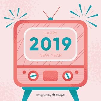 Vintage nouvel an 2019 fond