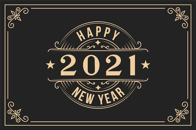 Vintage nouvel an 2021