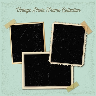 Vintage photo frames collection