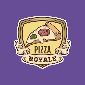 Vintage pizza place logo
